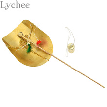 Lychee Chinese Style Copper Weighing Scale 250g Small brass Manual Weighing Scale