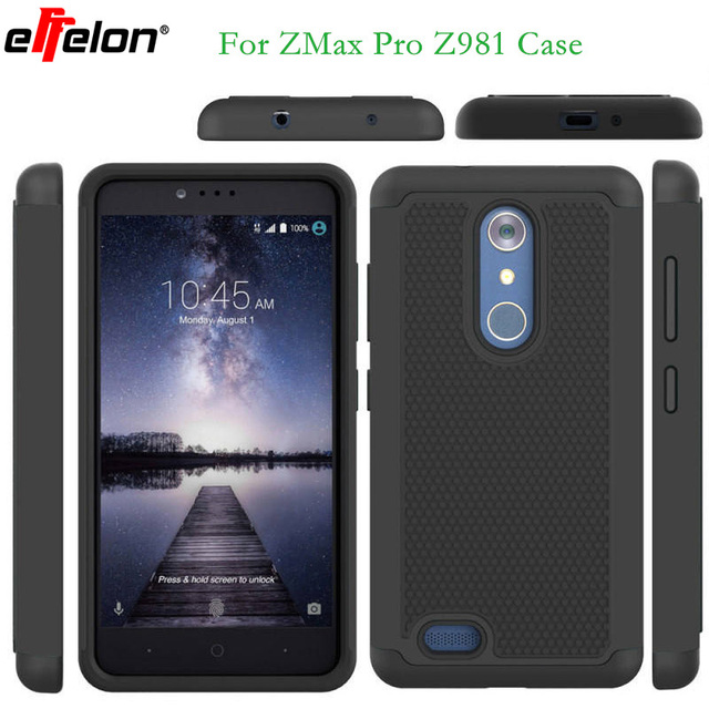 Effelon For ZTE Z981 Anti-Knock Rugged 3D Case PC Silicone TPU Case Back Cover for ZTE ZMax Pro Z981 Hard Cover Case