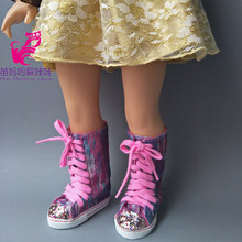 18 inch 45CM American Girls Dolls Boots shoes for Alexander doll accessory 43cm baby born doll shoes girl gift(China)