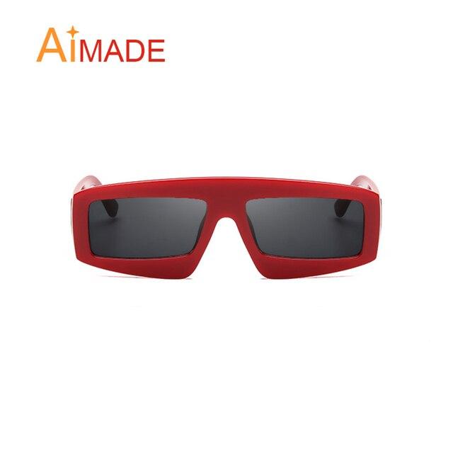 a7a86b531d799 Aimade Moda óculos Quadrados Quadro Pequenos Óculos De Sol Mulheres Marca  Preto Cinza Lentes Claras Óculos