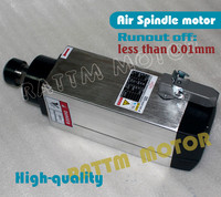 Square 6kw Quanlity Air cooled spindle motor ER32 runout off 0.01mm, 4 Ceramic bearing,Engraving milling grind