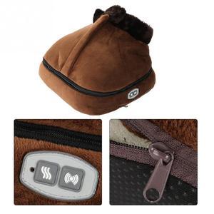 Image 5 - 2 IN 1 Electric Heated Foot Warmer Cosy Unisex Velvet Feet Heated Foot Warmer Massager Big Slipper Foot Heat Warm Massage Shoes