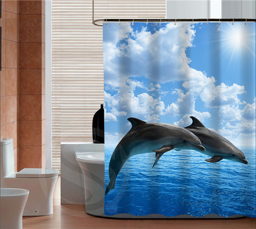 New Arrive Free Shipping The Lovely Dolphins Personalized Custom Shower  Curtain Bath Curtain Waterproof MORE SIZE