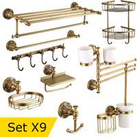 Top Quality Antique Bronze Bathroom Accessories, All in one Package, free combination, Solid Brass, Boutique Hotel Collection