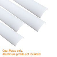 Crystal Clear Cover Lens Ostyer Milky White Cover For ALP006 Silver Black Finish 16x16mm LED Aluminum