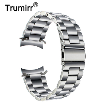 Premium Stainless Steel Watchband for Samsung Gear S3 Classic Frontier Smart Watch Band Wrist Strap Link Bracelet Silver Black