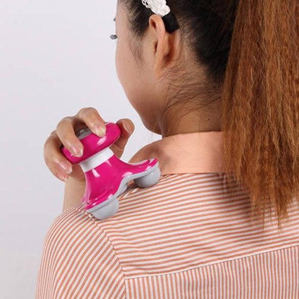 New Mini <font><b>Wave</b></font> <font><b>Vibrating</b></font> Back Massager USB Battery Electric Handled Full Body Massage SSwell