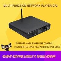 SMSL DP3 HIFI High Resolution Music Player Bluetooth/wifi DSD Home Headphone Amplifier ES9018Q2C Chip