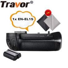 Travor Батарейный держатель для NIKON D7100 D7200 DSLR камера Замена MB-D15+ 1 шт. EN-EL15 литий-ионная батарея+ 2 шт. ткань для объектива