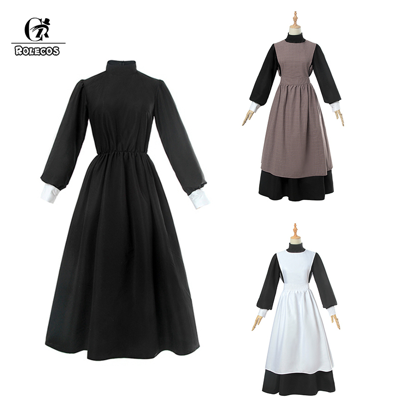 69889852f6a0a Medieval Dress Women Vintage Black Red Long Sleeve Hooded Costume ...
