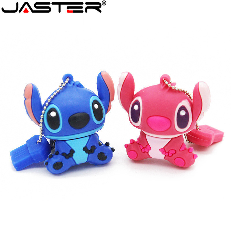 JASTER Genuine Cartoon Lilo&Stitch USB Flash Drive 4GB 8GB 16GB 32GB U Disk Cute Thumb Memory Stick 64GB Pen Drive Usb Flash