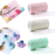15cm 25Yards Star Tulle Roll Wedding Decoration Organza Sequin Tulle Roll DIY Craft Birthday Party Supplies
