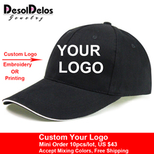 36163db8 2019 New Snapback Caps Blank Baseball Hats Customized Net Caps Hip Hop LOGO  Printing Adult Hats Casual Peaked Hat 10pcs/lot