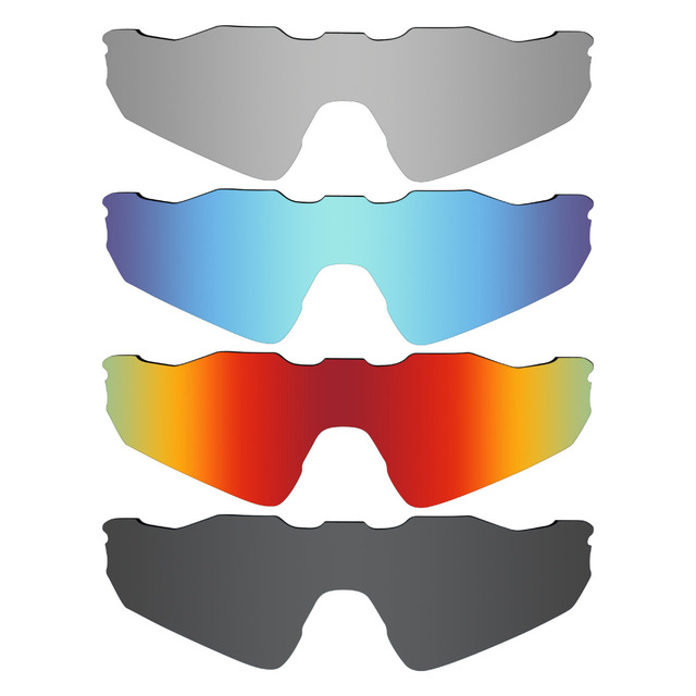 308316e3fc 4 Pieces Mryok POLARIZED Replacement Lenses for Oakley Radar EV Path  Sunglasses Stealth Black   Ice