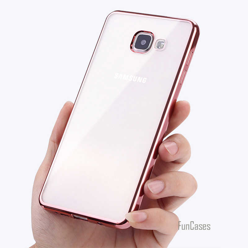 עבור סמסונג גלקסי A3 A5 A7 2017 2016 חדש יוקרה סגנון ציפוי TPU טלפון מקרה עבור A320F A520F A720 סיליקון רך חזרה Case כיסוי