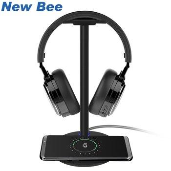 חדש דבורה אלחוטי טעינת אוזניות Stand אוזניות מחזיק אופנה אלומיניום Stand עבור Samsung Galaxy S7/S7Edge/S6/ s6Edge HTC שחור