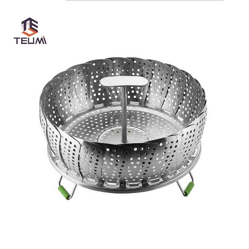 Stainless Steel Folding Steamer Telescopic Steamed Drawer Steaming Frame Set Inch