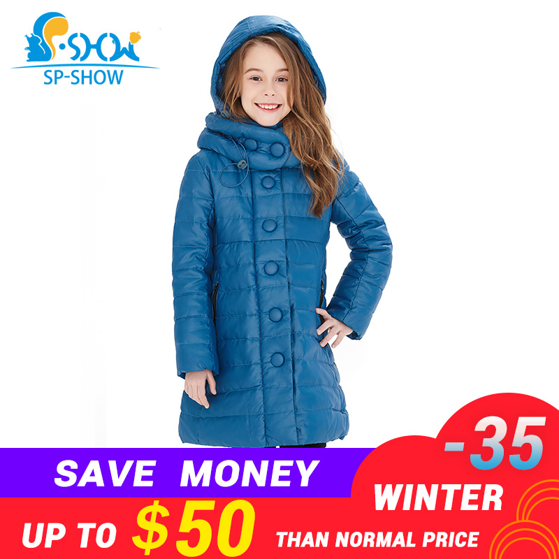 2018 Kids Winter Luxury Brand Down jacket Coat Thicker Warm Coat New Fashion For Big Children Girls Winter Jacket 05 free shipping new brand mens charge garments multifunction jacket winter warm thicker cotton parkas sales