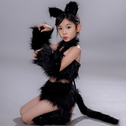 4 colors cat cosplay for girls sexy cat girl cosplay costumes animal dance costumes for children halloween dance costumes kids