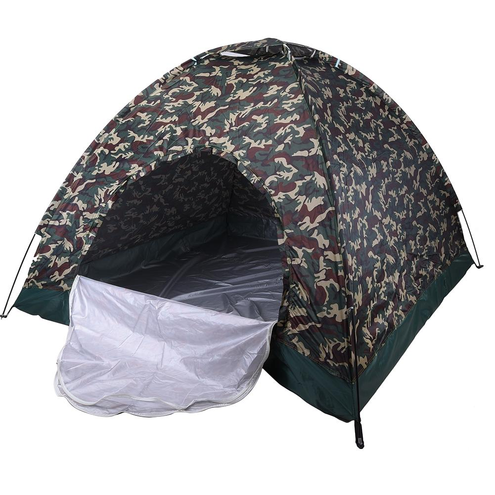 4 Person CamouflageTent Ultralight Single Layer Water Resistance Camping Tent For Hiking Traveling Large Space 200