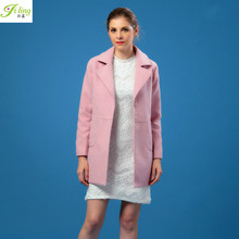 2016 Korean Winter With New Female Temperament Thin Single Breasted Suit Slim Collar Wool Coat Woolen Coat Long