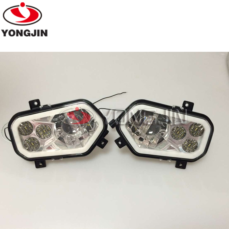 High / Low Beam LED Headlight Head Lamp with halo ring for POLARIS RANGER 400 500 800 500 900 2012-2013 for Sportsman 550 image