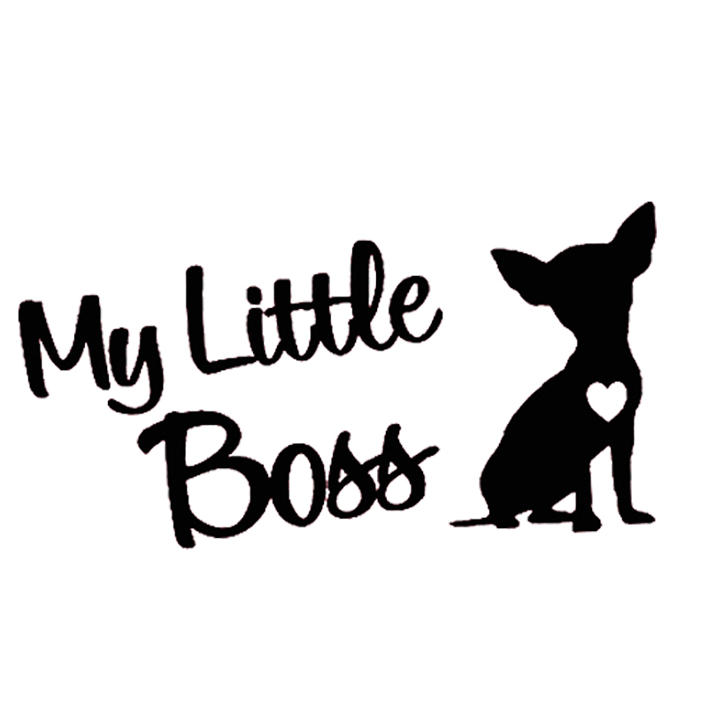 Cute Chihuahua Dog Sticker Car Wall Window Laptop Auto Truck Motorcycle Decal