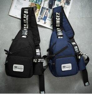 Image 2 - Men casual chest bag Oxford waterproof shoulder Messenger chest bags Small Sling Bags man Women Shoulder Crossbody Bag Back Pack