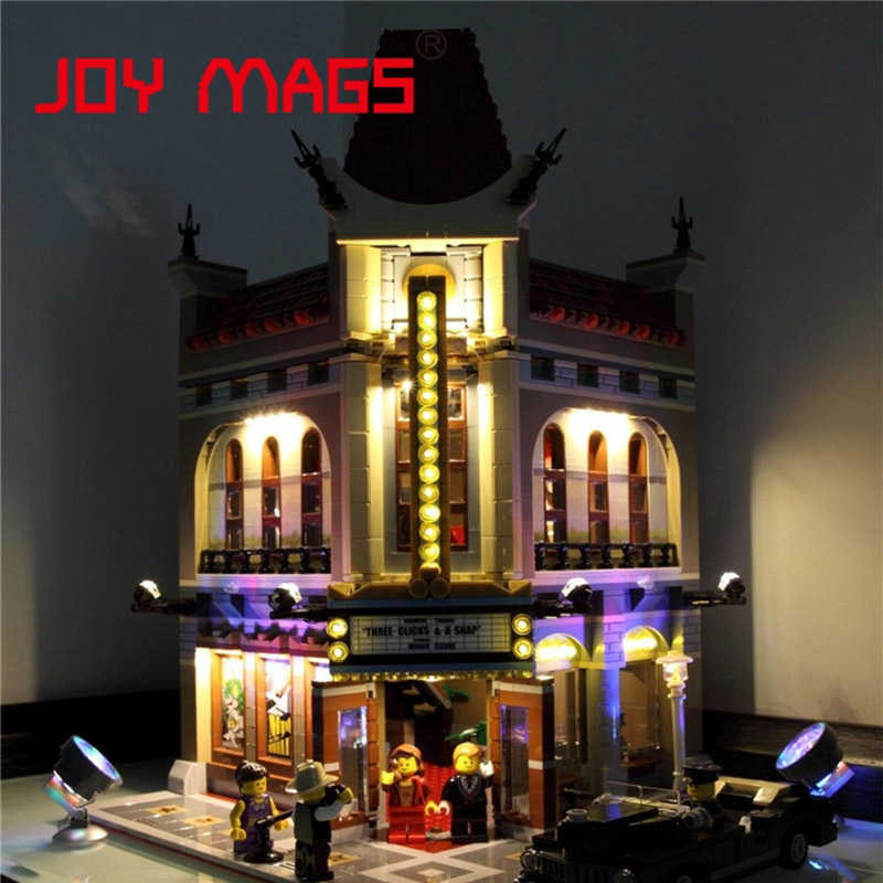 JOY MAGS Only Led Light Up Kit For Building Blocks 15006 Creator Palace Cinema 10232 Compatible With Lego Excluding Model 2016 new lepin 15006 2354pcs creator palace cinema model building blocks set bricks toys compatible 10232 brickgift