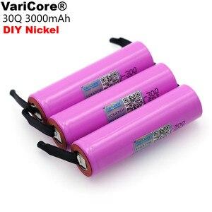 Image 1 - Varicore新ICR18650 30Q 18650 3000mahのリチウム充電式バッテリー + diyニッケル電池
