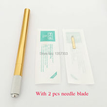 Microblade stift Aluminum alloy Manual tattoo pen for permanent makeup Microblading pen Eyebrow tattoo tebori pen