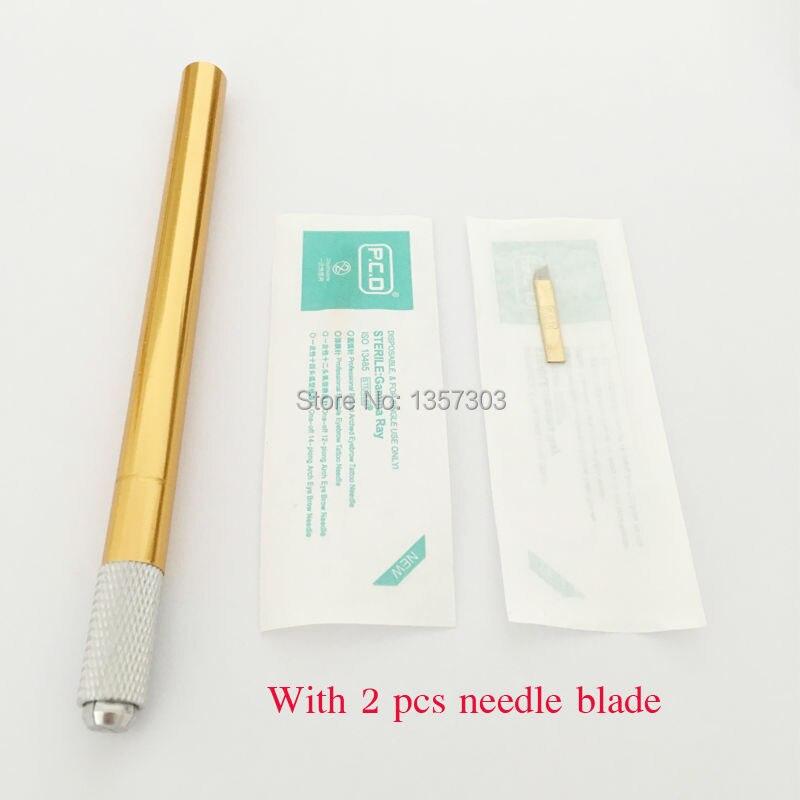 Microblade stift 알루미늄 합금 영구 화장을위한 수동 귀영 나팔 펜 Microblading pen 눈썹 귀영 나팔 tebori 펜