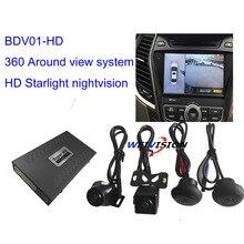1080 P Starlight ночного видения HD 360 градусов Bird View Системы панорамный вид, все Круглый вида Камера Системы с DVR