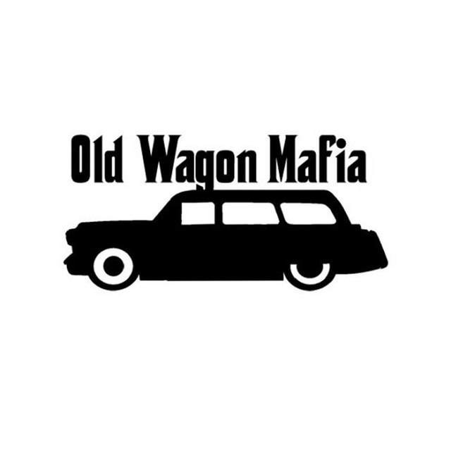 13cm6 3cm car styling wagon mafia old funny vinyl car window stickers c5