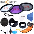 52mm 3pcs UV+CPL+FLD Lens Filter Kit UV Protector Circular Polarizing for Nikon D5300 D5200 D5100 D3300 D3200 D3100 DSLR Cameras