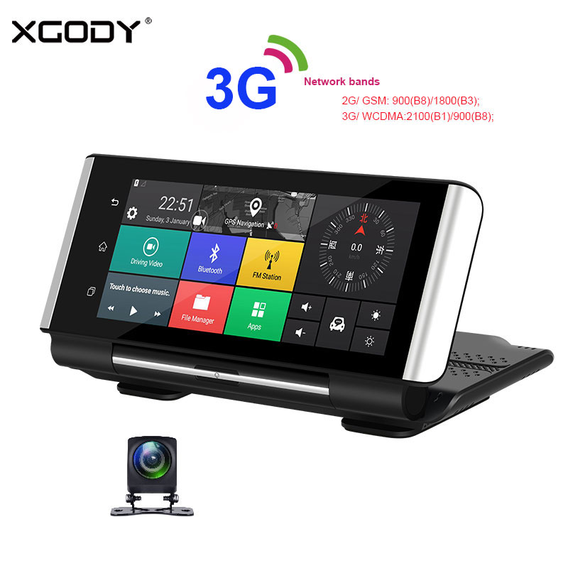 Xgody Dash-Cam Navigation Rear-View-Camera Bluetooth Android Gps Wifi Car DVR Auto-Video-Recorder