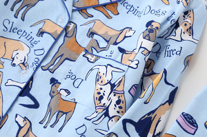 Image 5 - BZEL Delle Donne Pajamas Set 100% Cotone Lungo Manicotto Sveglio Del Cane Del Fumetto Dei Pigiami Degli Indumenti Da Notte Gira giù il Collare Delle Donne Sexy estate Homewear