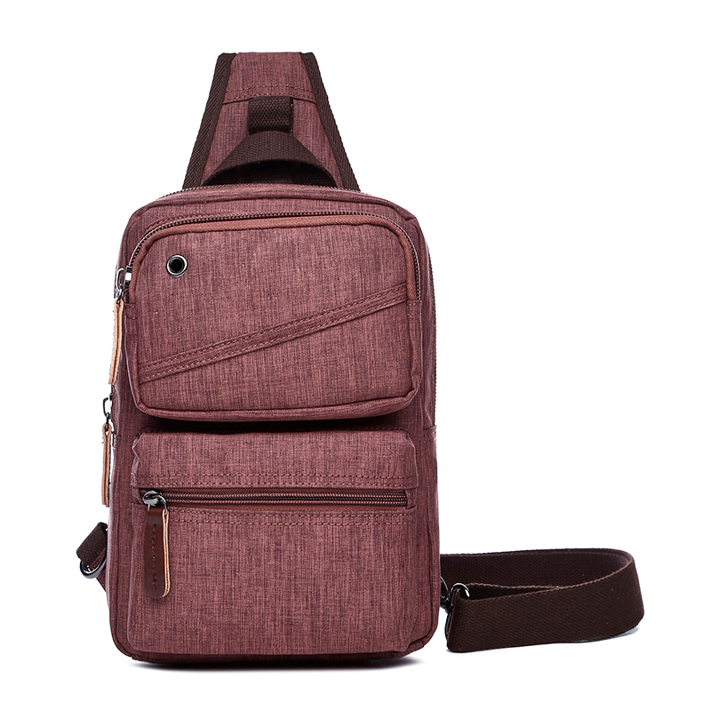 4407341ab2bd Canvas Crossbody Bag Women Sling Shoulder Backpack Men Casual Daypack Chest  Bags Travel Rucksack One Strap Back Pack-in Backpacks from Luggage   Bags  on ...