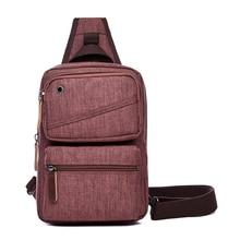 Canvas Crossbody Bag Women Sling Shoulder Backpack Men Casual Daypack Chest Bags Travel Rucksack One Strap Back Pack