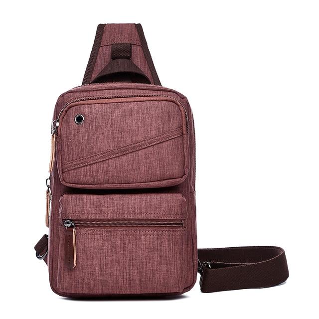 b066c6808c0f Canvas Crossbody Bag Women Sling Shoulder Backpack Men Casual Daypack Chest  Bags Travel Rucksack One Strap