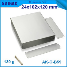4pcs/lot aluminum cabinet electronics junction box for industry anodizing switch case 24*102*120mm