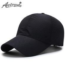 [AETRENDS] Men Women 2017 Summer Snapback Quick Dry Mesh Baseball Cap Sun Hat Bone Breathable Hats Z-5109