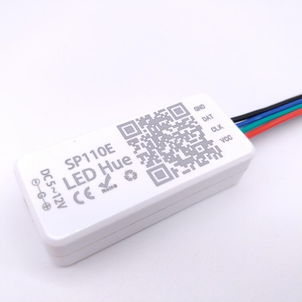 Rgb-controller Beleuchtung Zubehör Gehorsam Sp110e Spi Bluetooth Volle Farbe Pixel Licht Controller Durch Smart Telefon App Für Ws2812b Sk6812 Rgbw Lpd88061903 Rgb/rgbw Dc5-12v Taille Und Sehnen StäRken