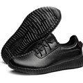 Calçado de trabalho Sapatos Casuais para Homens Sapatos de Couro PU Mans preto Prest Superstar Sapatos Masculinos Planas com Zapatillas Hombre Não Yeezie