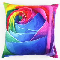 1Pcs Square Sofa Cushion Covers Colorful Rose 3D Flowers Decorative Cushion Covers Wedding Party Home Sofa