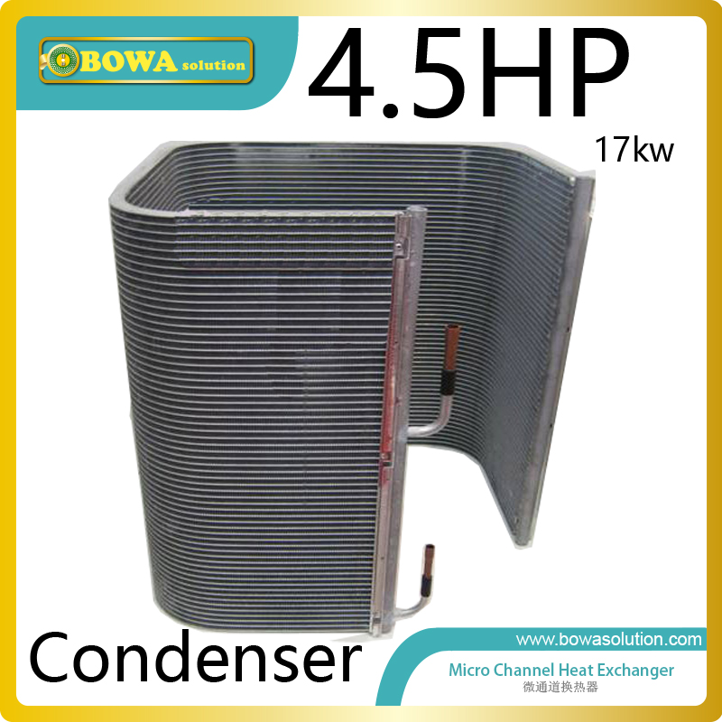 4.5HP micro-channel heat exchanger as condenser of 58000BTU air conditioner or water chiller for villa, apartment or resturant 28 plates heat exchanger as 14kw evaporator of air source or water source water chiller replace spx plate heat exchanger