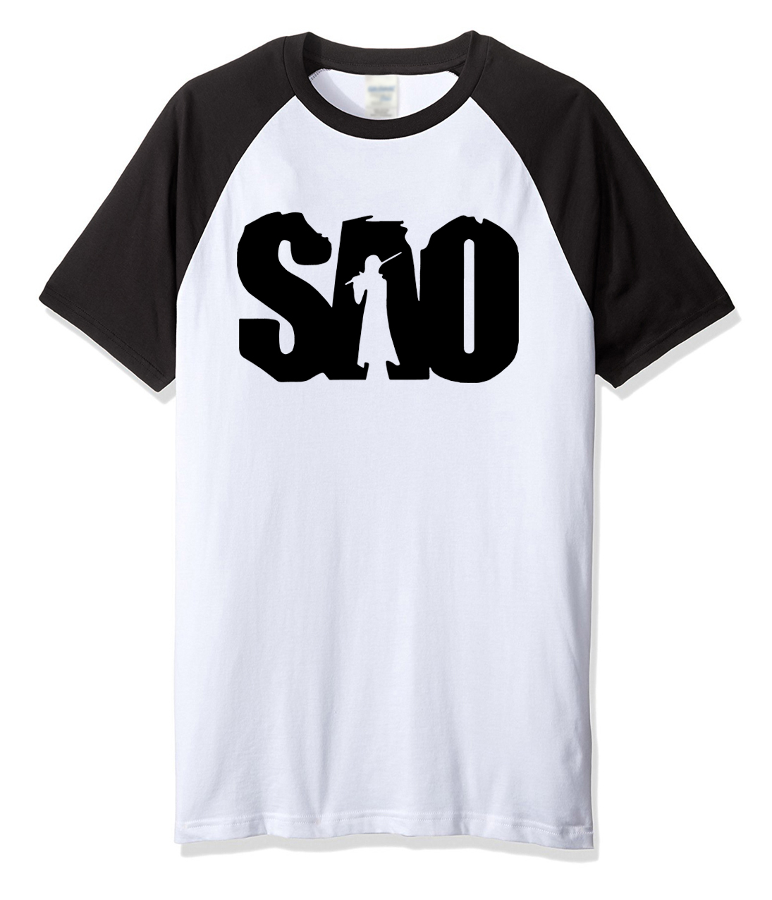 2019 men's T-shirts SAO anime printed summer 100% cotton fashion casual t shirt for men homme brand clothing top kpop T-shirt