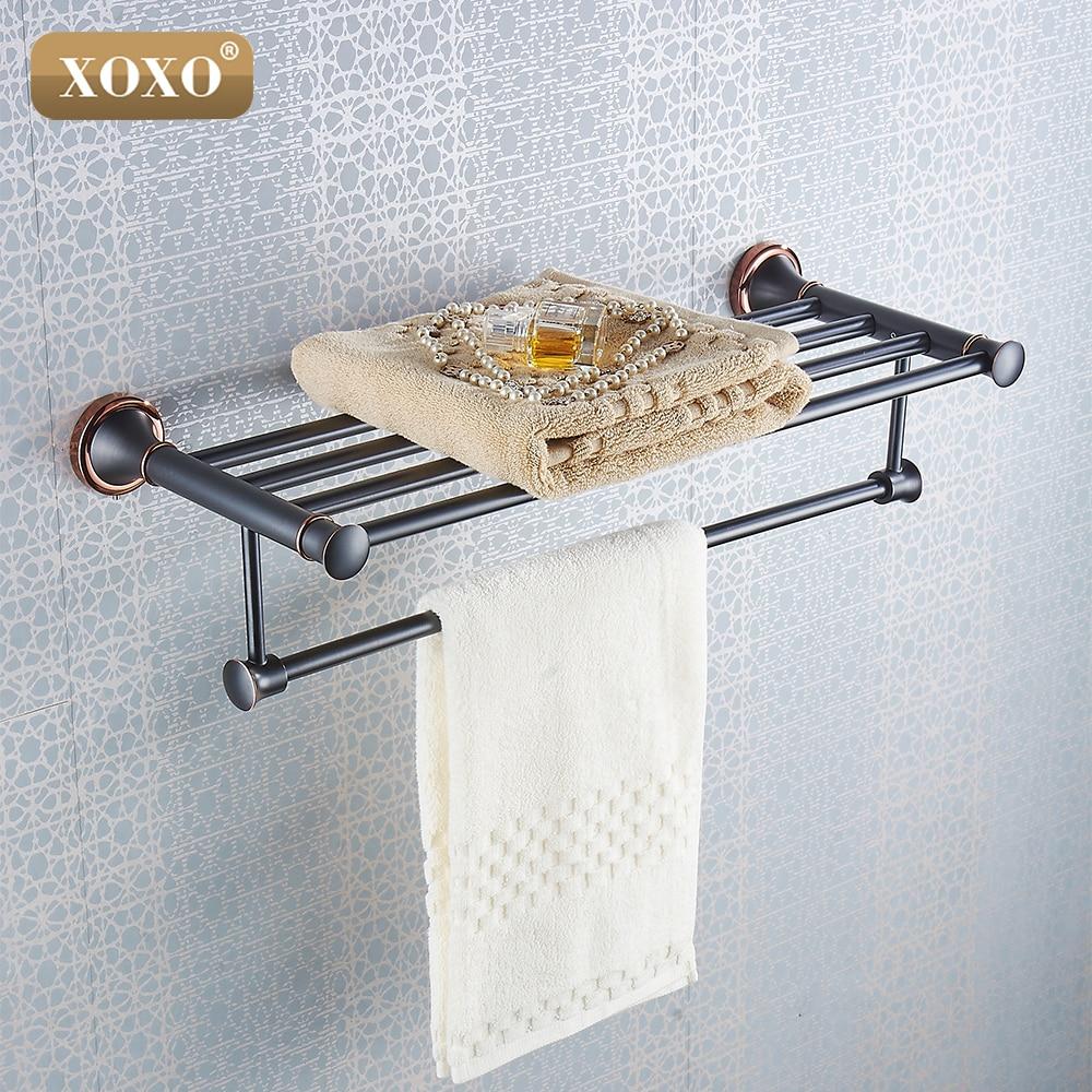 XOXOLuxury Towel shelf  copper Dual purpose punch and paste High Quality Bath Towel Shelves  bathroom accessories21020