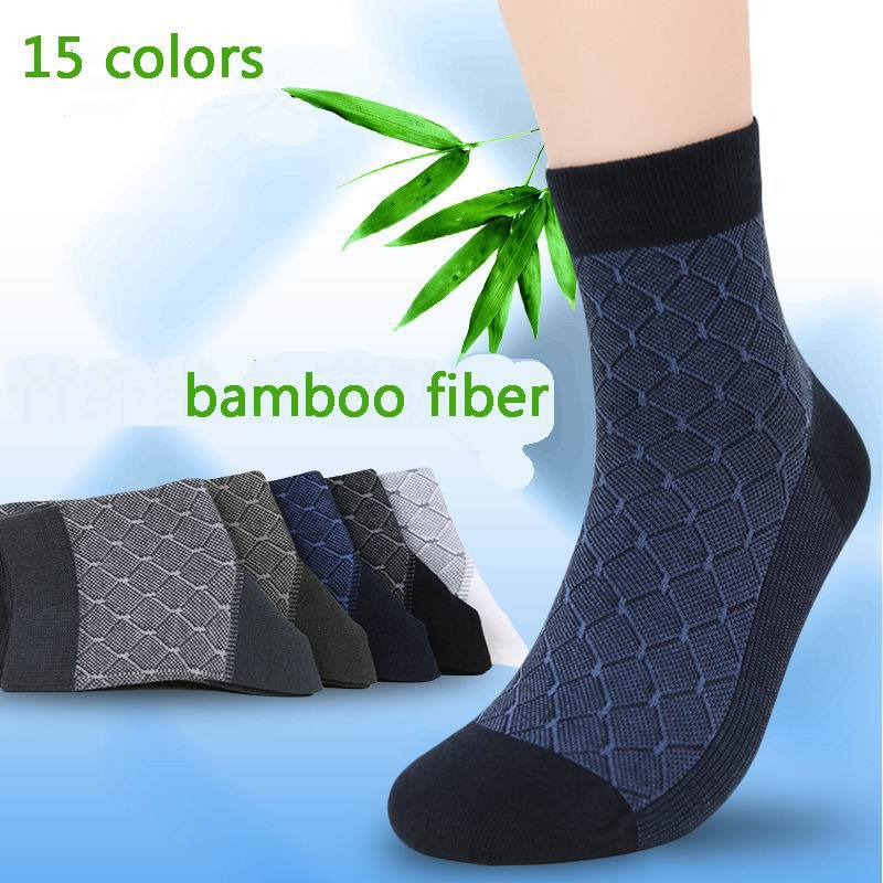 10pcs=5 pairs/lot Bamboo Fiber Man's Fashion casual   Socks   health comfortable men's men sox high qualtiy business   socks