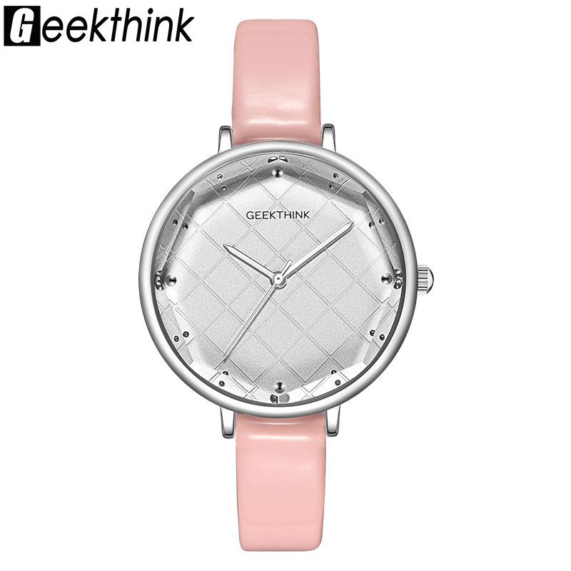 Geekthink Fashion Quartz Watches Women Classic Dress Wrist Watch Leather Top Luxury Brand Ladies Dress Clock Female New relogio